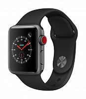 Часы Apple Watch Series 3 Cellular 38mm (Space Gray Aluminum Case with Black Sport Band)