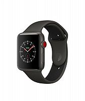 Часы Apple Watch Edition Series 3 Cellular 42mm (Gray Ceramic with Gray/Black Sport Band)