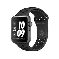 Часы Apple Watch Series 3 38mm Nike+ (Space Grey Aluminum Case with Nike Sport Band - Anthracite / Black)