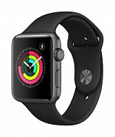 Часы Apple Watch Series 3 42mm (Space Gray Aluminum Case with Black Sport Band)